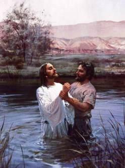 João batiza Jesus