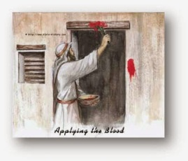 Pesach1 applying the blood of lamb