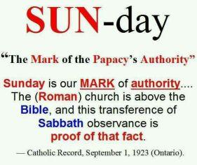 Change of True Sabbath to false sabbath image 5