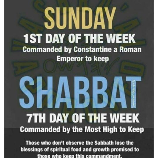 Change of True Sabbath to false sabbath image 4