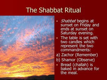 The+Shabbat+Ritual+Shabbat+begins+at+sunset+on+Friday+and+ends+at+sunset+on+Saturday+evening.