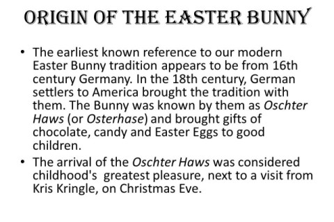 Tradition Of Easter BunnyThe Origins Of Easter Photo Album Best Gift And Craft