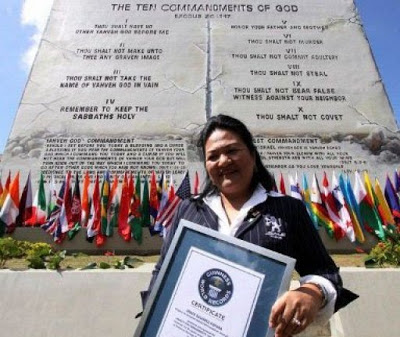 Image result for the 2 storey building with the ten commandments in the Philippines# grace gupana